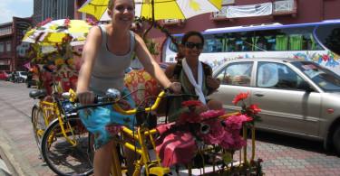 Tri-shaw pedaling in MalaysiaBa