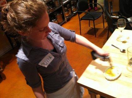 Olivia, the professional creme brulee-er