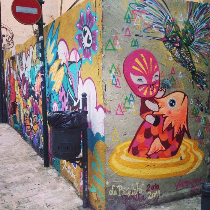 Colorful street art in Valencia