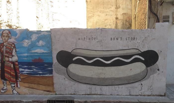 Hot dog graffiti