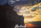 sunset in Madrid