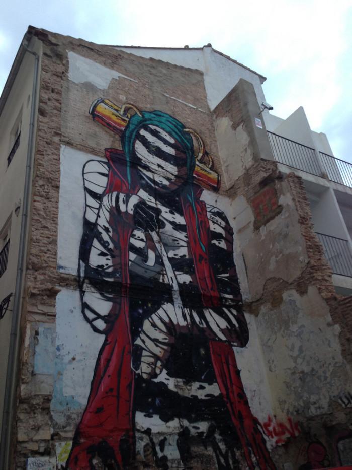 Mummy graffiti