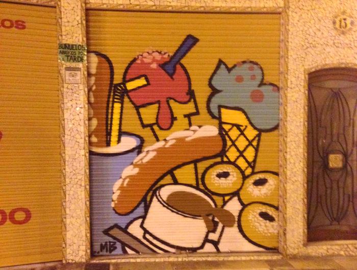 Rolldown graffiti