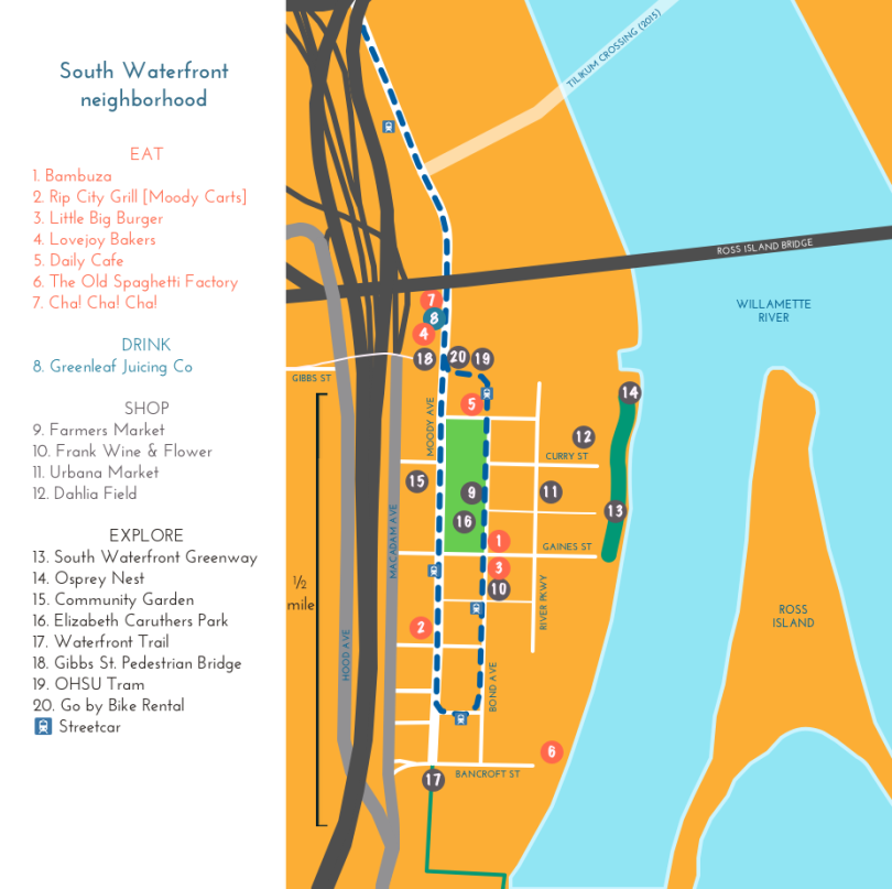 South Waterfront map