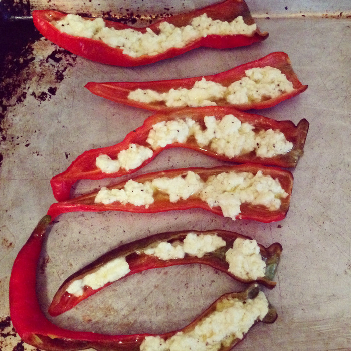 Feta-stuffed Peppers