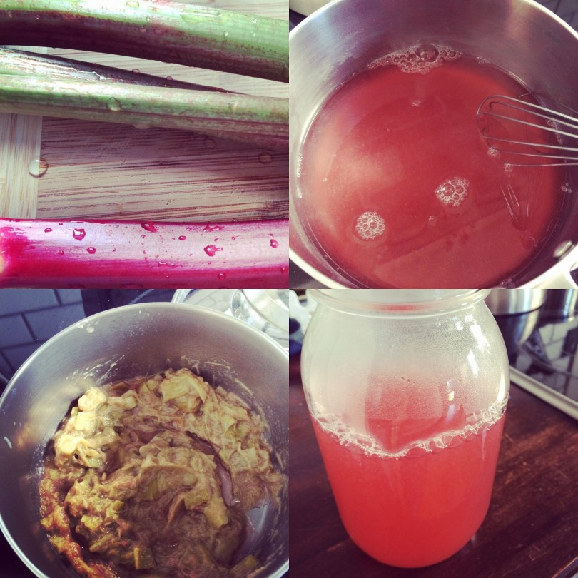 Rhubarb simple syrup and sauce