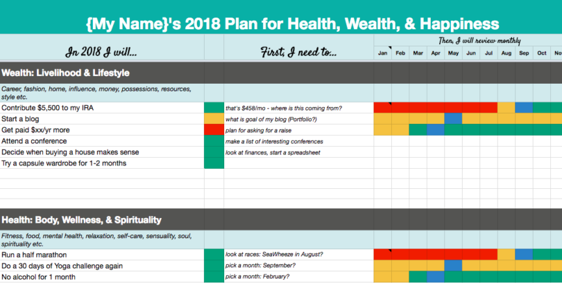 2018 goal setting template ideas for Goals and objectives template excel